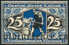 Зелов (Seelow), 25 пфеннингов 1920 года
