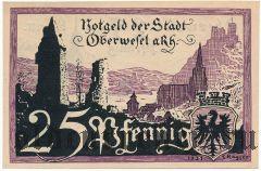 Обервезель (Oberwesel), 25 пфеннингов 1921 года