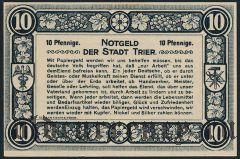 Трир (Trier), 10 пфеннингов 1920 года