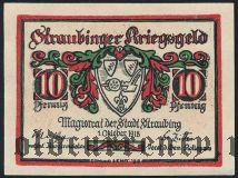Штраубинг (Straubing), 10 пфеннингов 1918 года