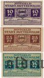 Миттенвальде (Mittenwalde), 3 нотгельда (1920) года