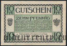 Рендсбург (Rendsburg), 10 пфеннингов 1918 года