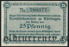 Гёттинген (Göttingen), 25 пфеннингов 1917 года. Вар. 1