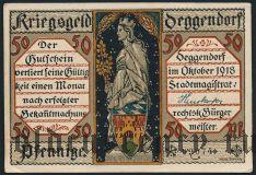 Деггендорф (Deggendorf), 50 пфеннингов 1918 года