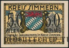 Зиммерн (Simmern), 50 пфеннингов 1921 года