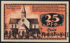Клостер Цинна (Kloster Zinna), 25 пфеннингов 1920 года