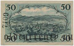 Эммендинген (Emmendingen), 50 пфеннингов 1921 года