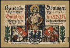 Гёттинген (Göttingen), 25 пфеннингов 1917 года. Вар. 2