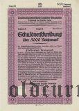 Umschuldungsverband deutscher Gemeinden, Berlin, 5000 reichsmark 1933.