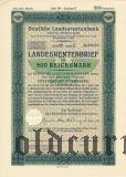 Deutschen Landesrentenbank, Berlin, 500 reichsmark