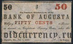 США, Bank of Augusta, 50 центов 1863 года