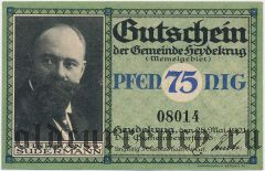 Шилуте (Heydekrug), 75 пфеннингов 1921 года