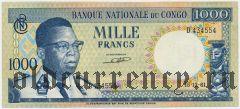 Конго, 1000 франков 1961 года