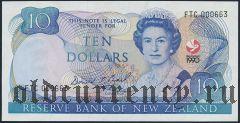 Новая Зеландия, 10 долларов 1990 года. Cер: FTC