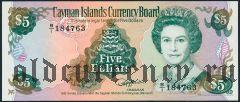 Каймановы Острова, 5 долларов 1991 года