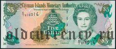 Каймановы Острова, 5 долларов 1998 года