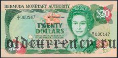 Бермуды, 20 долларов 1989 года
