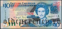 Восточные Карибы, Антигуа, 10 долларов (2003) года