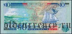 Восточные Карибы, Сент-Винсент, 10 долларов (2000) года