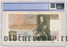 Великобритания, 50 фунтов (1991-93) года. В слабе PCGS 63