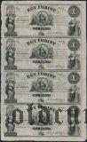 Венгрия, 1 форинт (1852) года, лист из 4-х штук