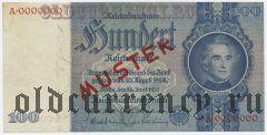 Германия, 100 рейхсмарок 1935 года. Образец