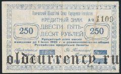 Камчатка, 250 рублей 1920 года