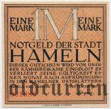 Хамельн (Hameln), 1 марка 1921 года