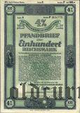 Калининград (Königsberg) Восточная Пруссия, Сельскохозяйственная Ипотека, 100 рейхсмарок 1942