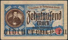 Данциг, 10.000 марок 1923 года