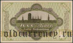 Данциг, 1000 марок 1922 года