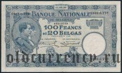 Бельгия, 100 франков 1930 года