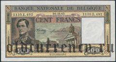 Бельгия, 100 франков 1945 года