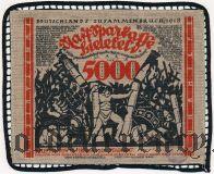 Билефельд (Bielefeld), 5000 марок 1923 года. На ткани