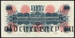 США, 50 центов, Military Payment Certificate, (1968) года, серия 661