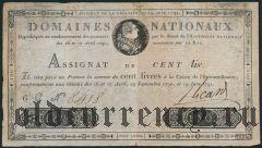 Франция, 100 ливров 1791 года