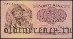 Эстония, 5 крон 1929 года