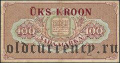 Эстония, 1 крона, надпечатка на 100 марках 1923 года