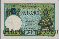 Мадагаскар, 10 франков (1937-47) года