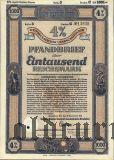 Калининград (Königsberg) Восточная Пруссия, Сельскохозяйственная Ипотека, 1000 рейхсмарок 1942