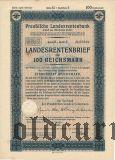 Preussische Laandesrentenbank, Берлин, 100 рейхсмарок 1939 года