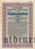 Preussische Staatsanleibe, Берлин, 500 рейхсмарок 1940 года