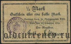 Советск (Тильзит), 1/2 марки 1916 года
