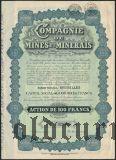 Бельгия, Compagnie de Mines et Minerais, 100 франков