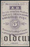 Русская Польша, Apteka Hrubieszowska 5 копеек 1861 года