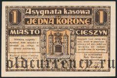 Польша, Цешин (Cieszyn), 1 крона 1919 года