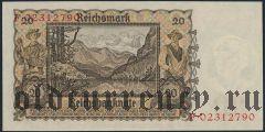 Германия, 20 рейхсмарок 1939 года