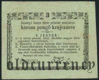 Венгрия, 3 крейцера 1849 года