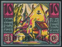 Эрфурт (Erfurt), 10 пфеннингов 1920 года