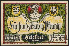 Фризак (Friesack), 25 пфеннингов 1921 года